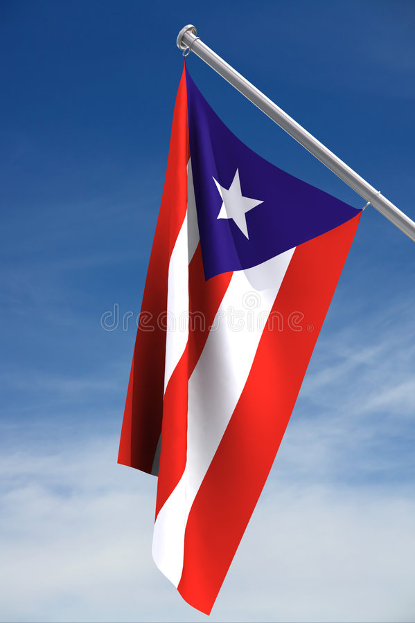 flagganational Puerto Rico vektor illustrationer