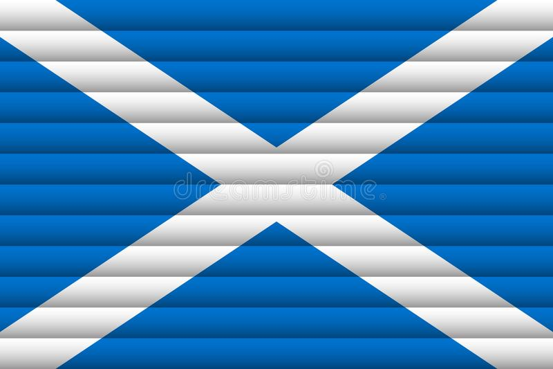 flagganational scotland vektor illustrationer