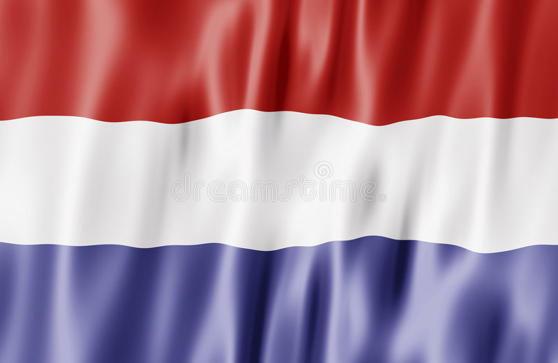 flaggaNederländerna stock illustrationer