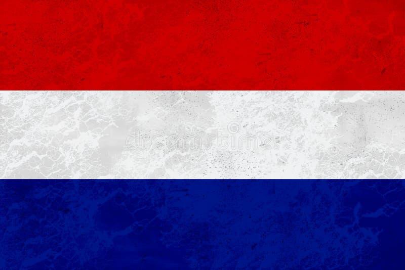 FlaggaNederländerna - marmortextur fotografering för bildbyråer