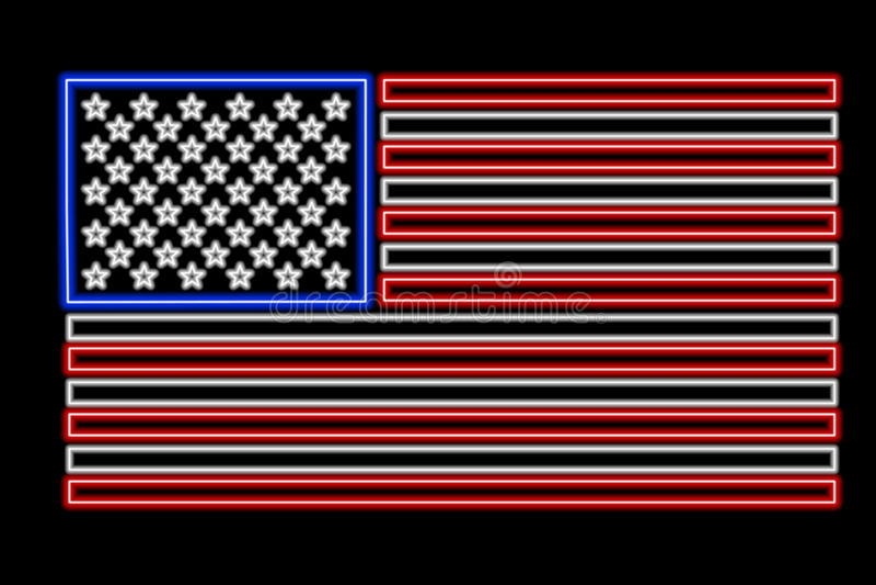 flagganeon USA vektor illustrationer
