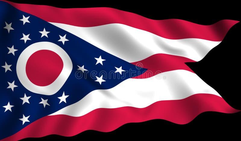 FlaggaOhio USA statligt symbol vektor illustrationer