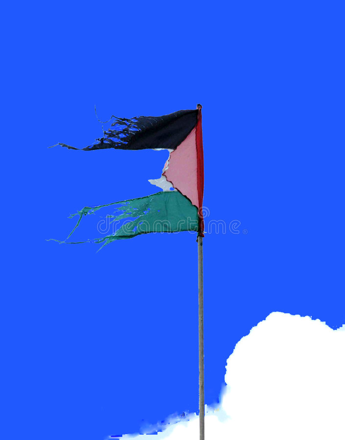 flaggapalestinier arkivbild