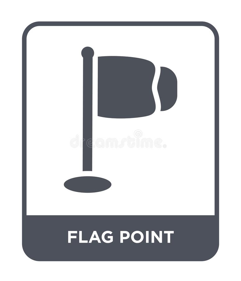 flaggapunktsymbol i moderiktig designstil Flaggapunktsymbol som isoleras på vit bakgrund modern symbol för flaggapunktvektor som  stock illustrationer