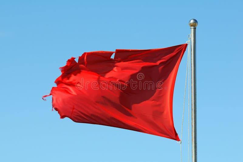 flaggaredvarning arkivbild