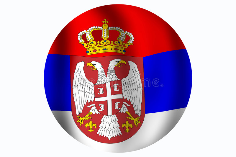 flaggarepublik serbia vektor illustrationer