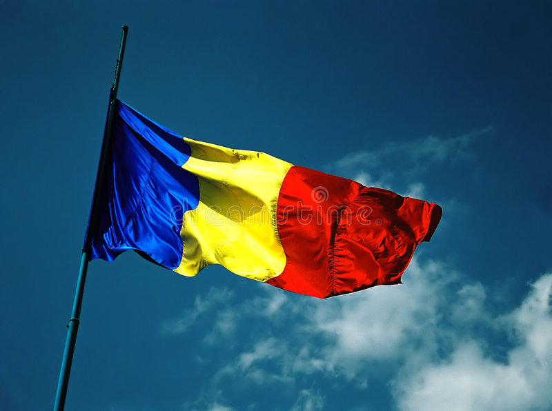 Download Flaggaromanian arkivfoto. Bild av nation, flagga, flaggskepp - 34384
