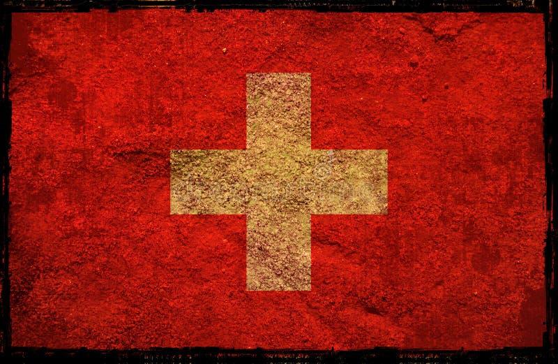 flaggaschweizare royaltyfri illustrationer