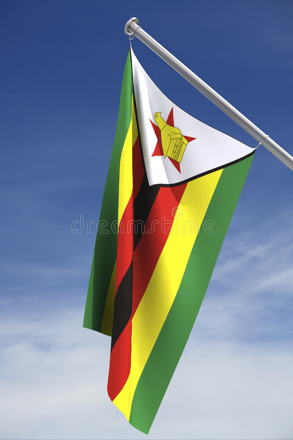 flaggasky zimbabwe vektor illustrationer