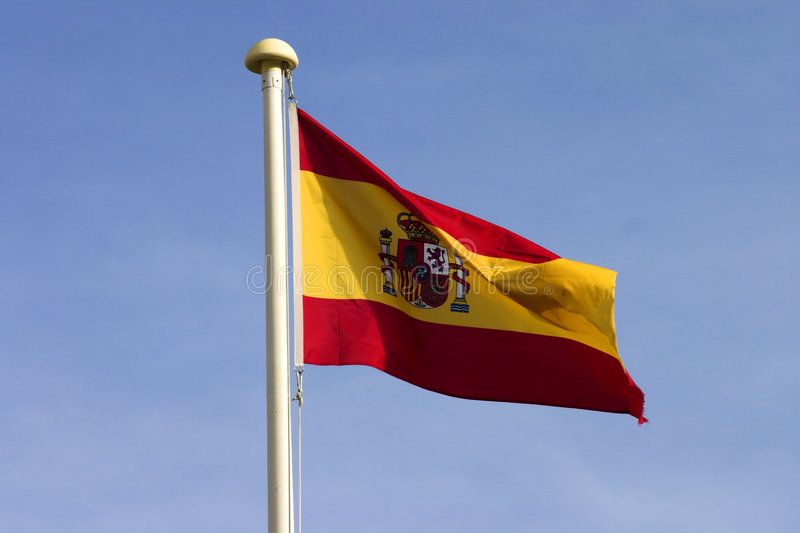 flaggaspanjor royaltyfria bilder