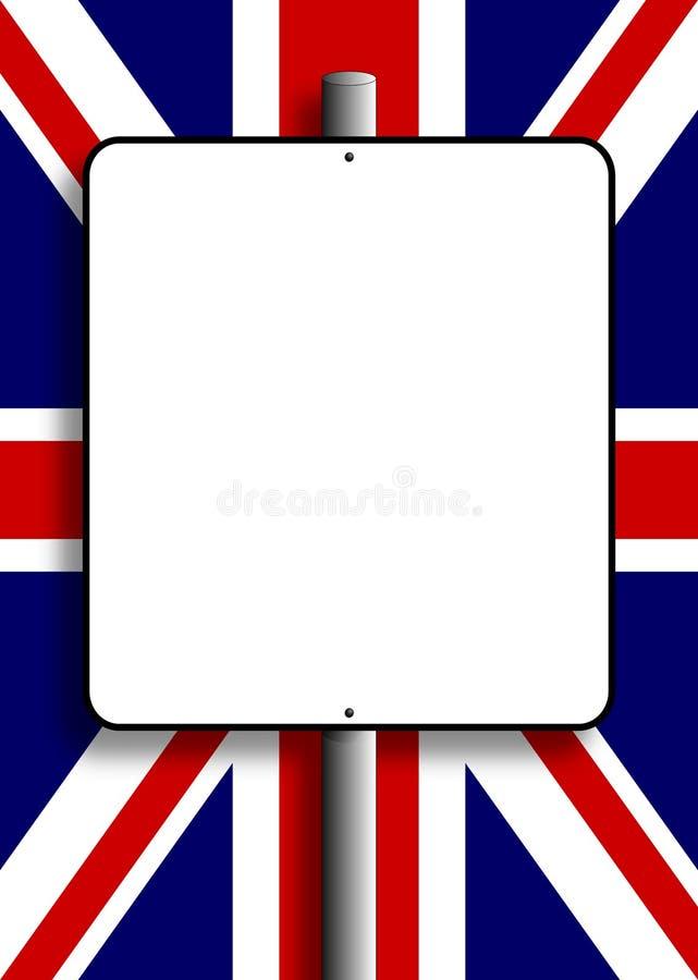 Flaggastolpetecken Uk Arkivbilder