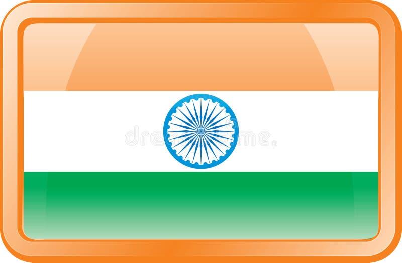 flaggasymbol india vektor illustrationer