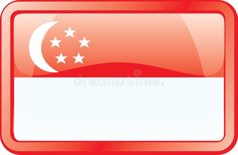 flaggasymbol singapore royaltyfri illustrationer