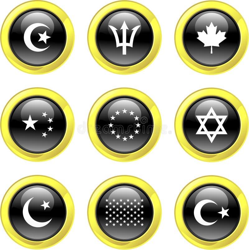 flaggasymboler royaltyfri illustrationer