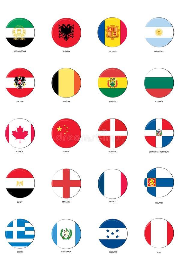 flaggasymbolsset stock illustrationer