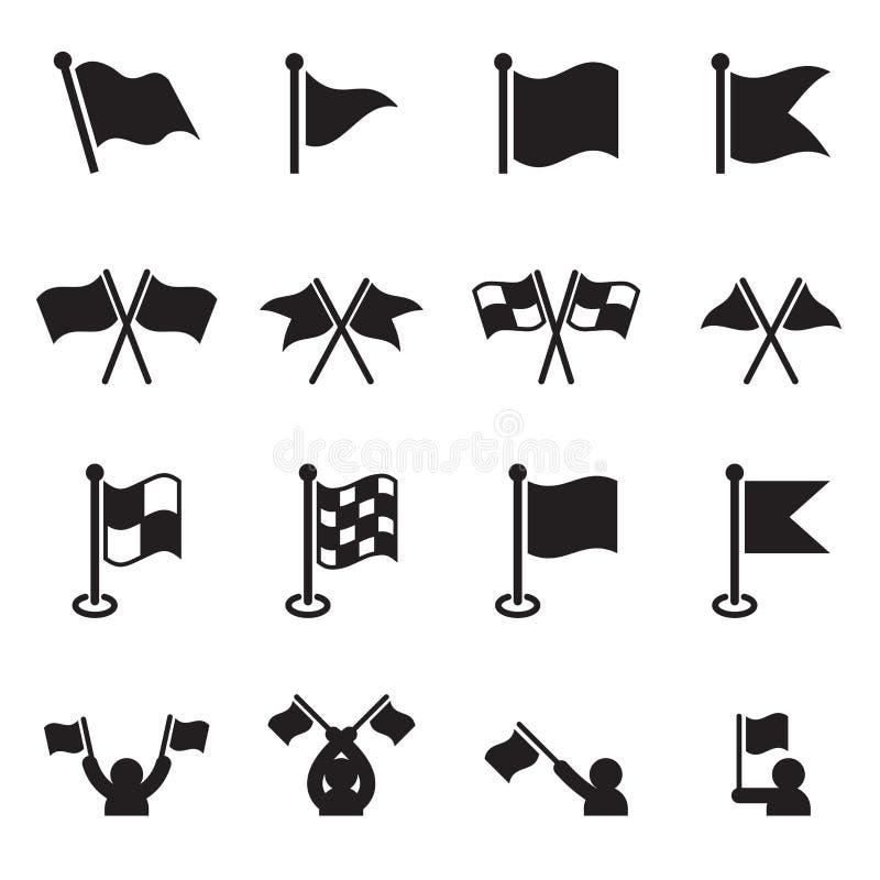 Flaggasymbolsuppsättning stock illustrationer
