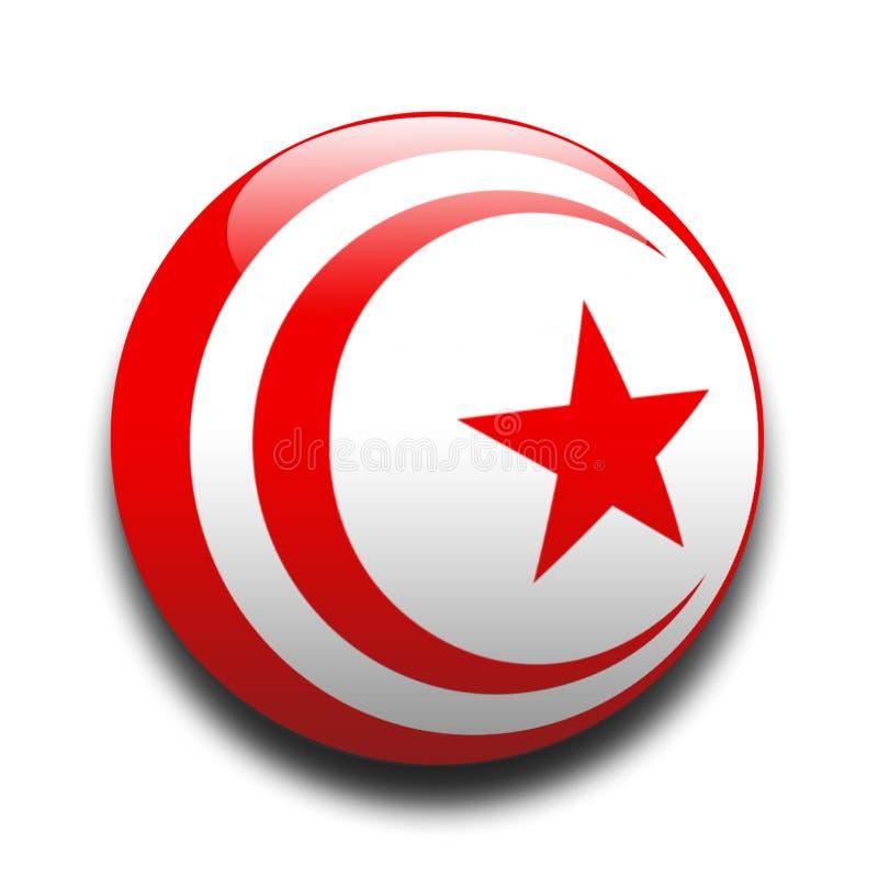 Flaggatunisian Royaltyfri Bild