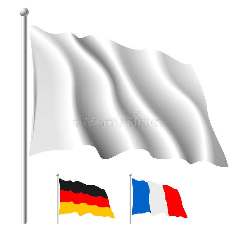 flaggawhite royaltyfri illustrationer