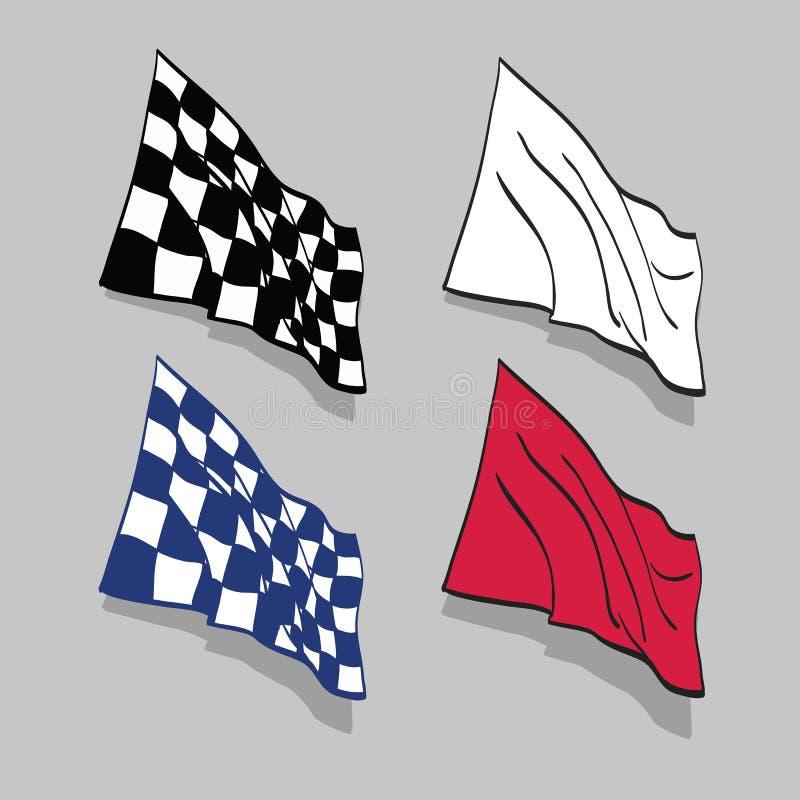 Flagge lizenzfreie abbildung