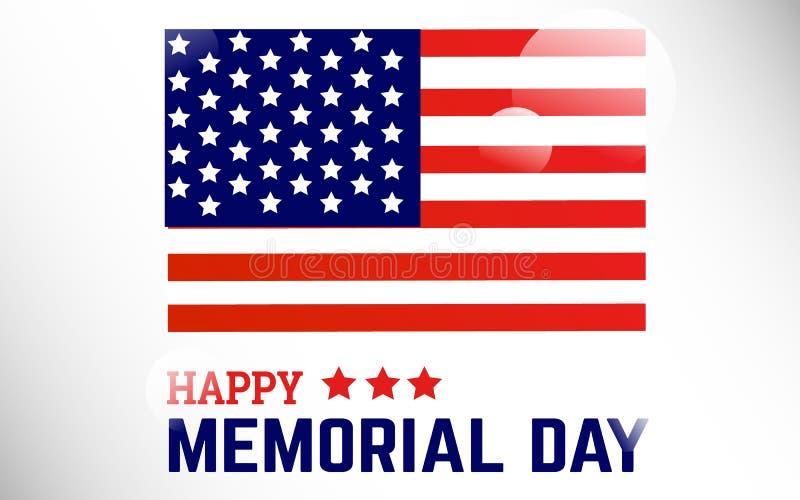 Flagge Amerika kreatives spezielles Memorial Day Celebaration stockfotos