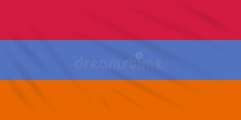 Flagge Armenien - Alternative, die in Wind, Vektor beeinflußt lizenzfreie abbildung