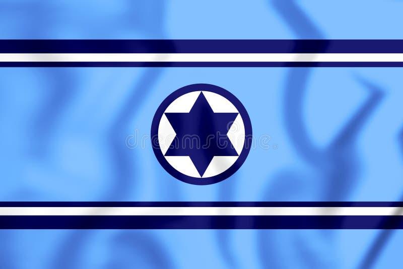Flagge 3D des israelische Armee-Land-Armes lizenzfreie abbildung