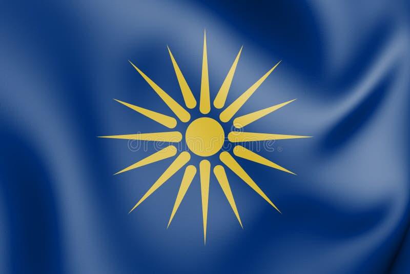 Flagge 3D griechischen Mazedoniens vektor abbildung