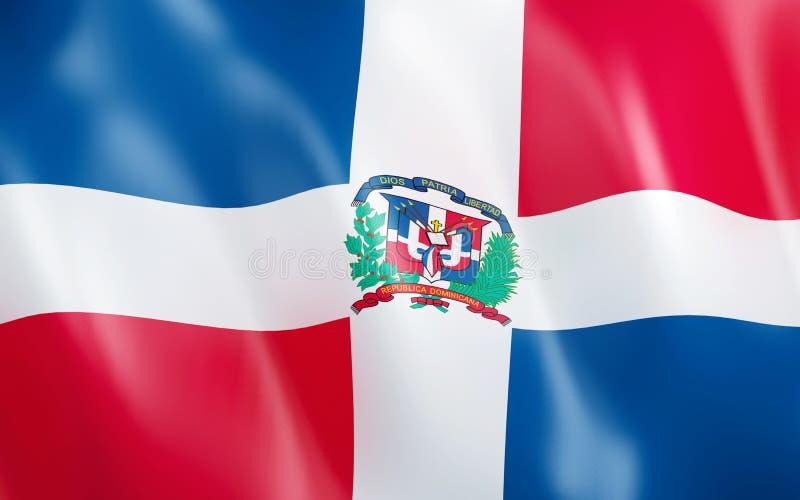 Flagge 3D von Dominikanischer Republik lizenzfreie abbildung