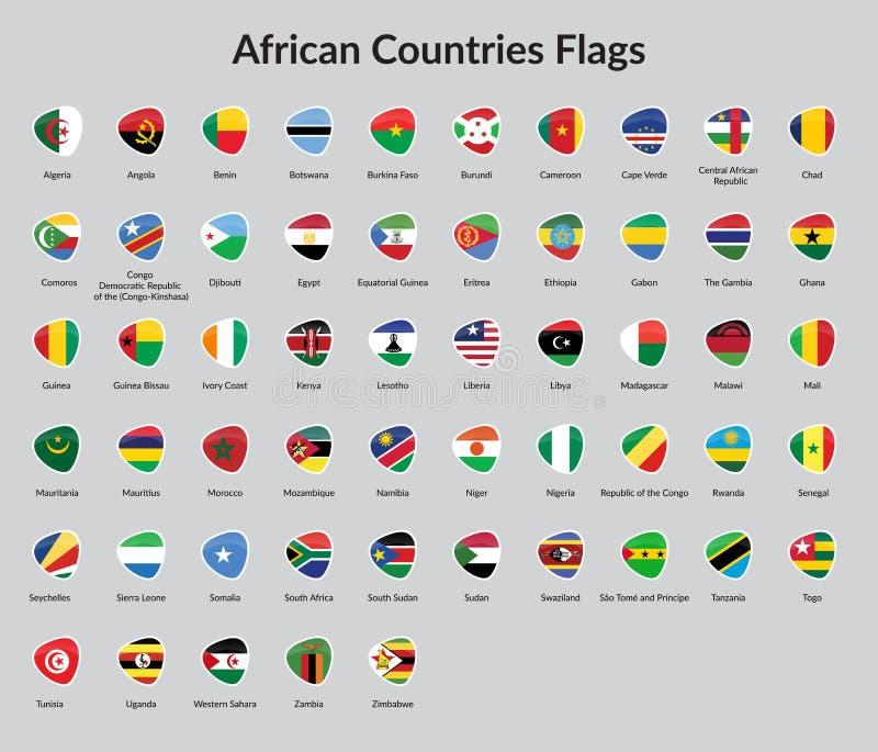 Flagge der afrikanischen Länder stock abbildung