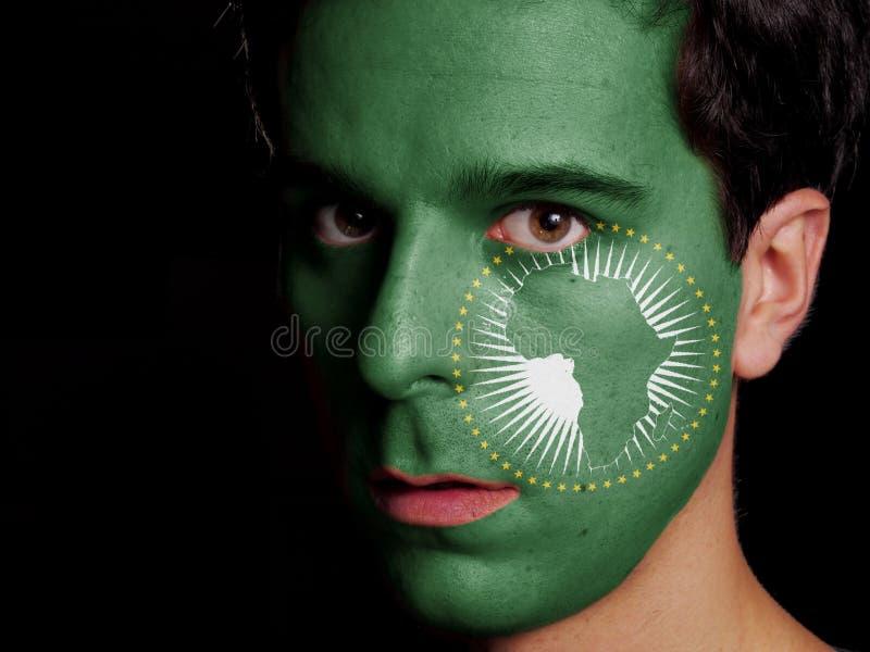 Flagge der Afrikanischer Union stockbild