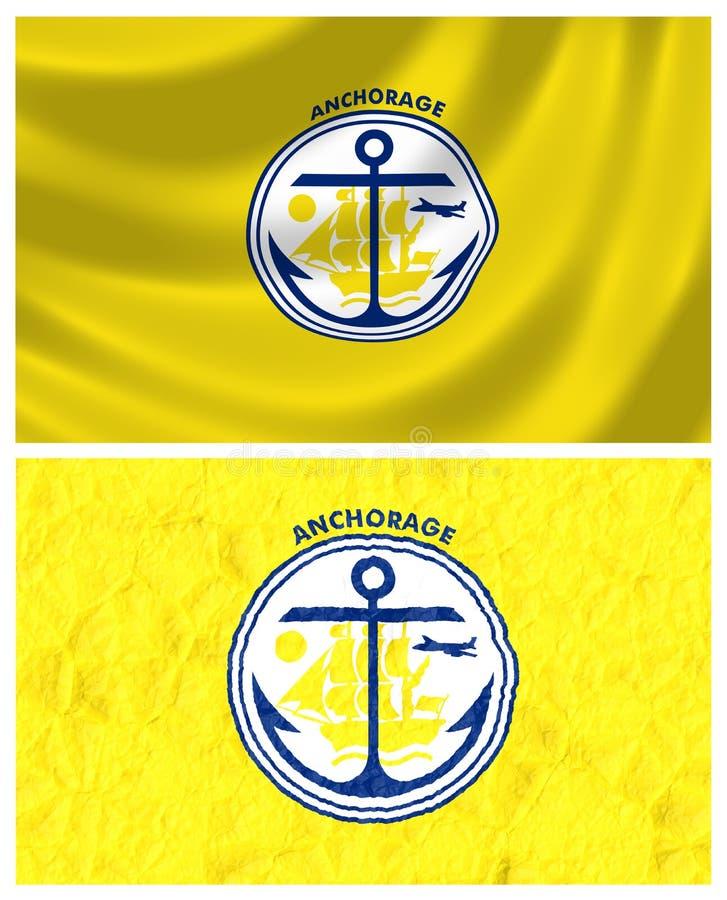 Flagge der Anchoragestadt vektor abbildung