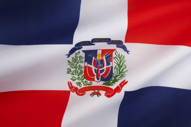 Flagge der Dominikanischen Republik lizenzfreie stockbilder
