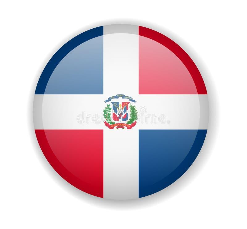 Flagge der Dominikanischen Republik ringsum helle Ikone auf einem weißen Hintergrund stock abbildung