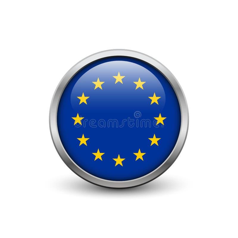 Flagge der Europäischen Gemeinschaft lizenzfreie abbildung