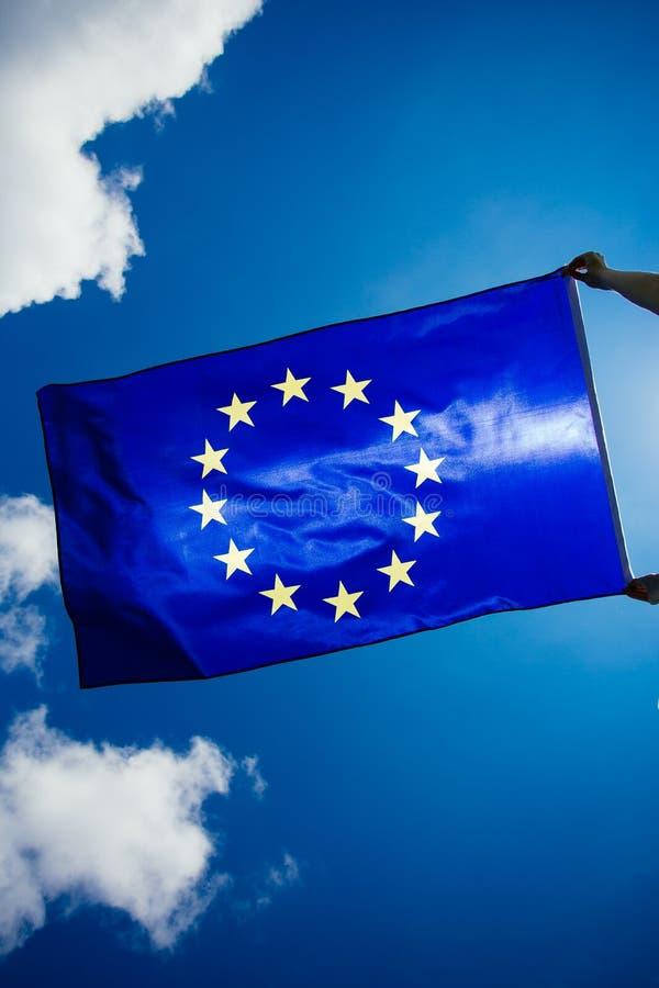 Flagge der Europ?ischen Gemeinschaft lizenzfreie stockfotografie