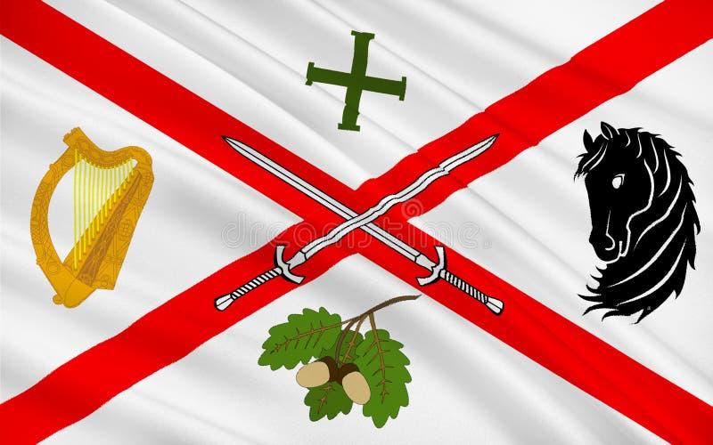 Flagge der Grafschaft Kildare ist eine Grafschaft in Irland vektor abbildung