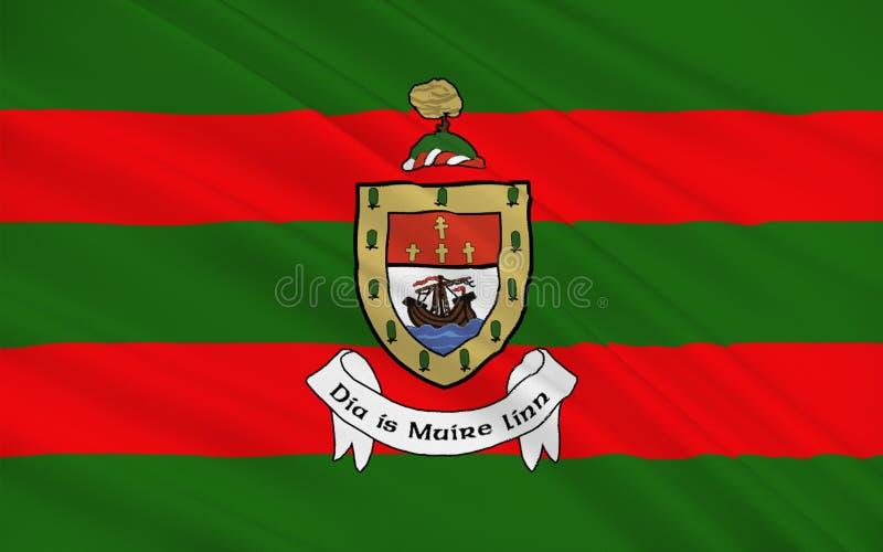 Flagge der Grafschaft Mayo ist eine Grafschaft in Irland vektor abbildung