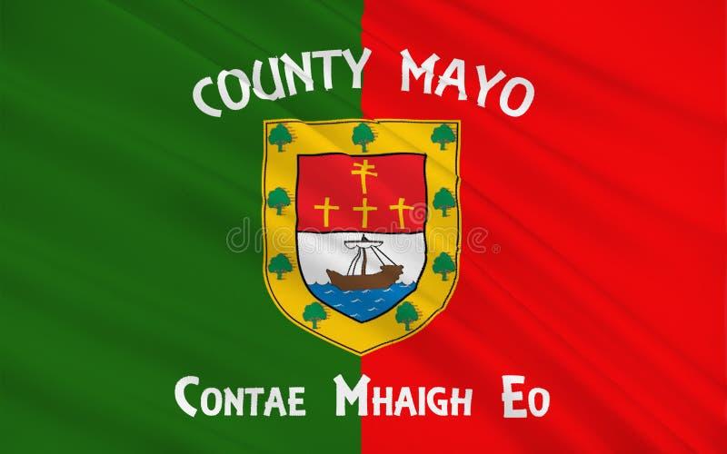 Flagge der Grafschaft Mayo ist eine Grafschaft in Irland stock abbildung