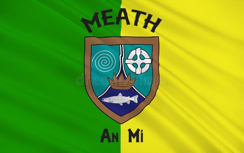 Flagge der Grafschaft Meath ist eine Grafschaft in Irland lizenzfreie abbildung