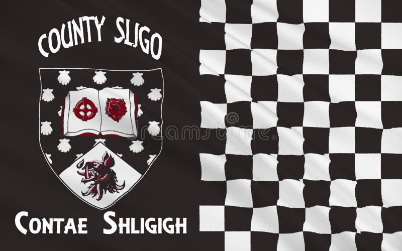 Flagge der Grafschaft Sligo ist eine Grafschaft in Irland stock abbildung