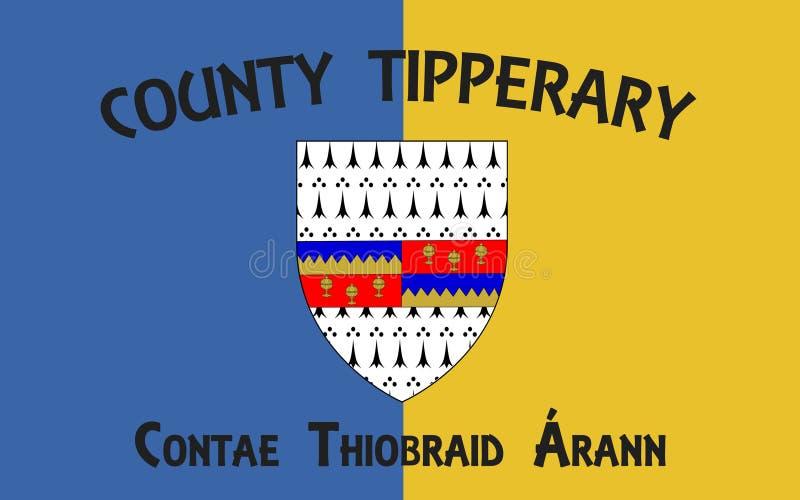 Flagge der Grafschaft Tipperary ist eine Grafschaft in Irland lizenzfreie abbildung