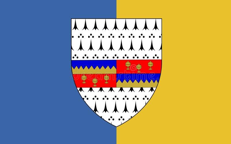 Flagge der Grafschaft Tipperary ist eine Grafschaft in Irland stock abbildung