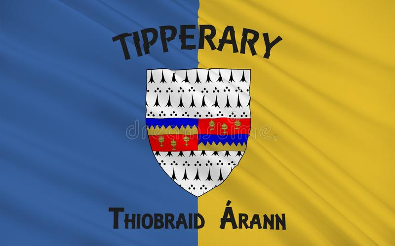 Flagge der Grafschaft Tipperary ist eine Grafschaft in Irland vektor abbildung