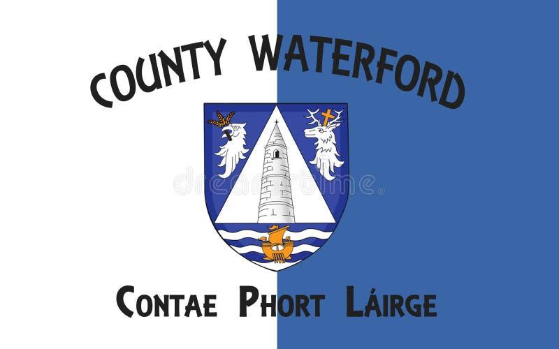 Flagge der Grafschaft Waterford ist eine Grafschaft in Irland lizenzfreie abbildung