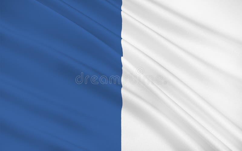 Flagge der Grafschaft Waterford ist eine Grafschaft in Irland stock abbildung
