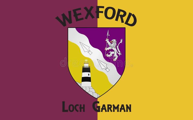 Flagge der Grafschaft Wexford ist eine Grafschaft in Irland stock abbildung
