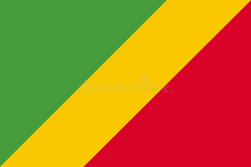 Flagge der großen Datei der Republik Kongo-Hintergrund-Illustration lizenzfreie abbildung