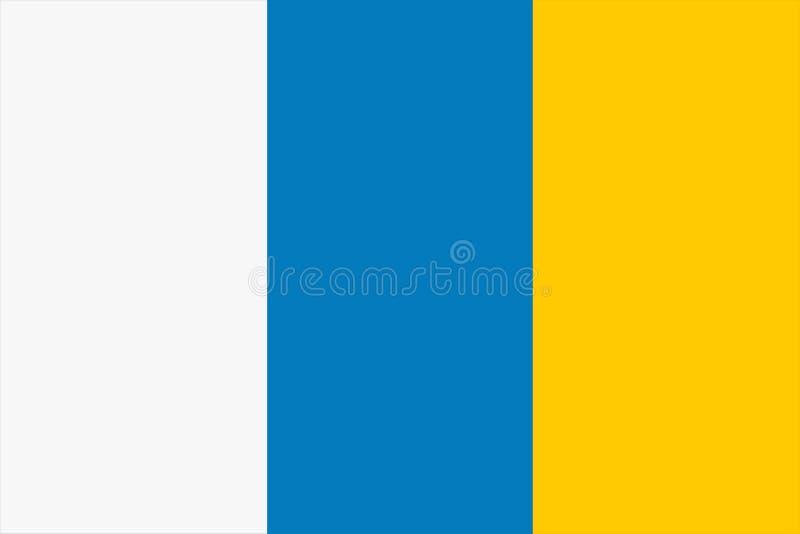 Flagge der der Hintergrundillustration der Kanarischen Inseln großen Datei vektor abbildung