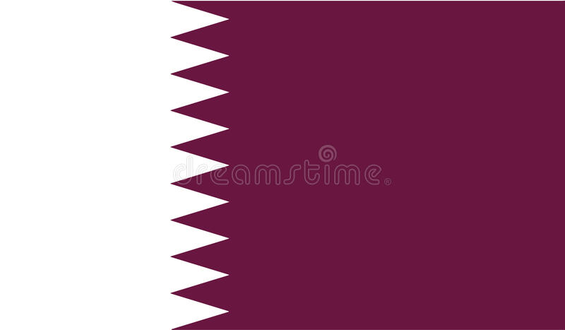Flagge der Qatar-Ikonenillustration stockfotos