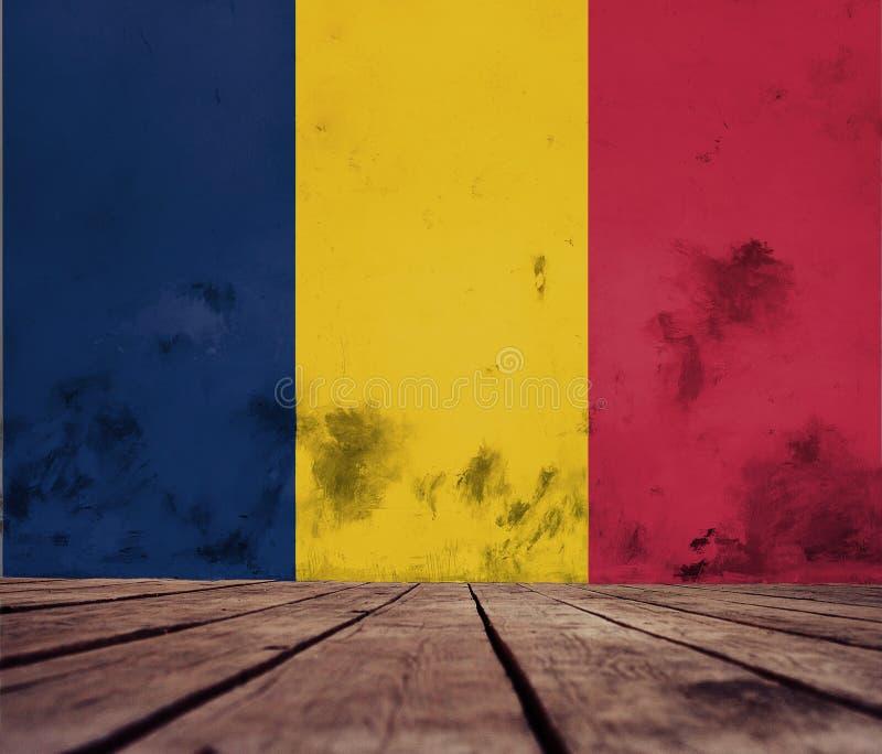 Flagge der Republik Tschads-Beschaffenheit stockfotos